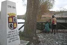Canal de Castilla en burgos