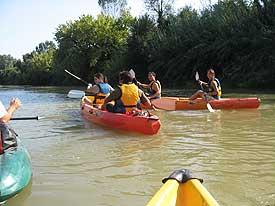 desenso en canoa