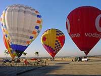 globos preparados para el paseo