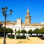 Patio de banderas Alcazar Sevilla