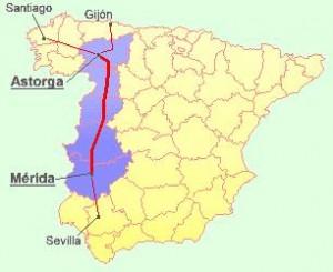 Vía de la Plata mapa
