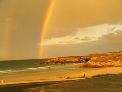 Arcoiris. Playa de las Catedrales