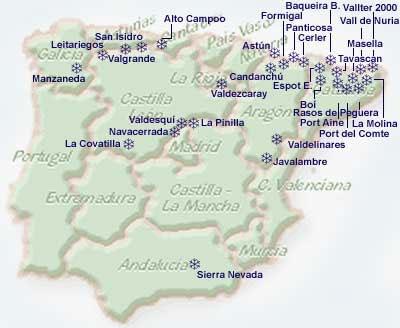 Estaciones De Esqui Mapa.Esquiar En Espana Revistaiberica Com Viajes Y Turismo Por Espana Y Portugal