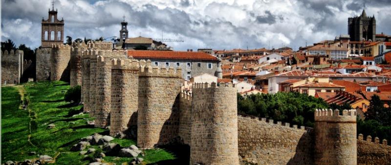 Ruta, Segovia, Avila y Valladolid. Vista de Avila, murallas