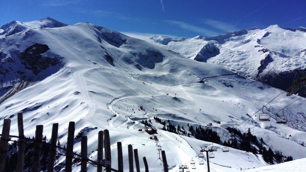Pirineo Francés. Pista de esquí.
