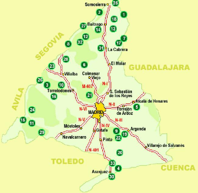 Espacios Naturales de la Comunidad de Madrid