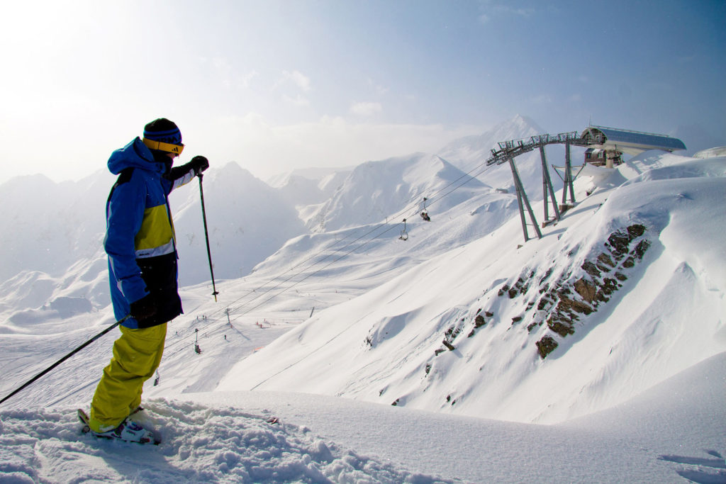 Pistas de esquí de Peyragudes. Pirineos Franceses